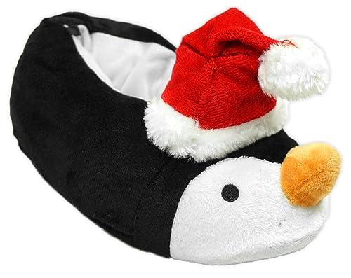 INFANTIL REGALO de Navidad Santa Reno Pingüino Elfo Navidad Zapatillas Zapato Tallas de 8A 2 - Pingüino, Talla de Calzado 25.5 EU: Amazon.es: Zapatos y ...