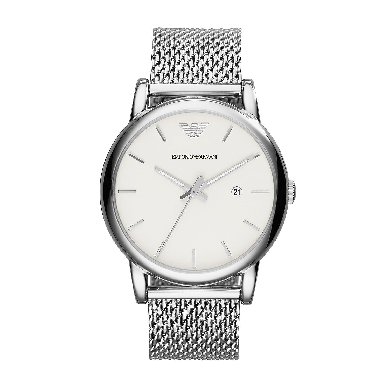 4a1a44672df Amazon.com  Emporio Armani AR1812 Mens Luigi Silver Mesh Bracelet Watch  Emporio  Armani  Watches