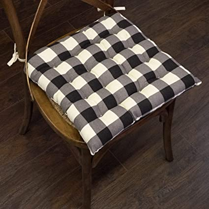 MISC Set of 4 Buffalo Plaid Chair Pad Cushion Square 16\
