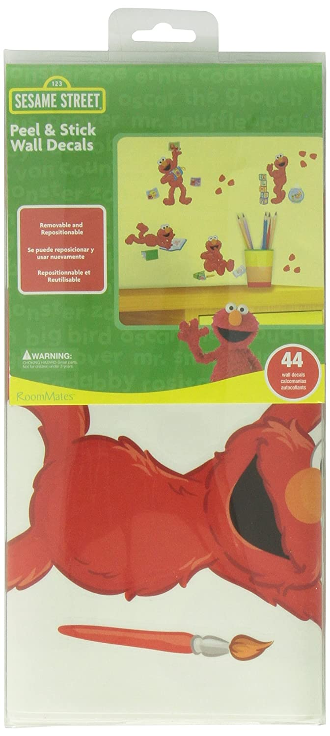 Amazon.com: RoomMates RMK2076SCS Sesame Street Elmo-Centric Peel and Stick Wall  Decals: Home Improvement