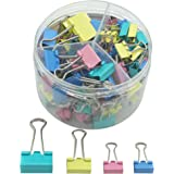 Autumn Love Mixed Size Foldback Paper Binder Clips Multipurpose Metal Mix Colour Clips Office Supplies Household Articles 82 pieces