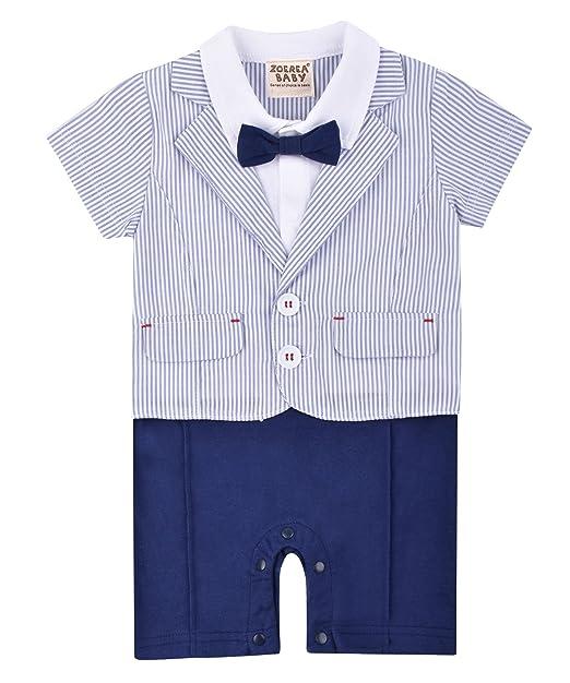 ZOEREA ropa bebe Pelele para bebé niño traje de los cabritos del juego del caballero niño de una sola pieza del mameluco del mono Ropa azul: Amazon.es: Ropa ...