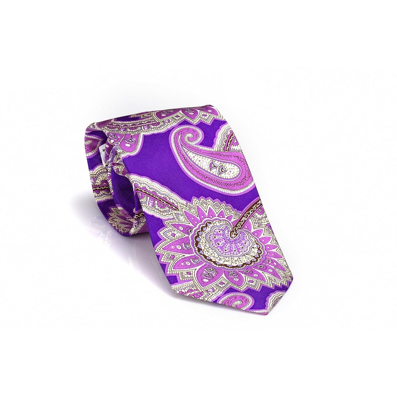 Corbata de seda cosida mano 8 cm de ancho - lila, lila VONFLOERKE ...