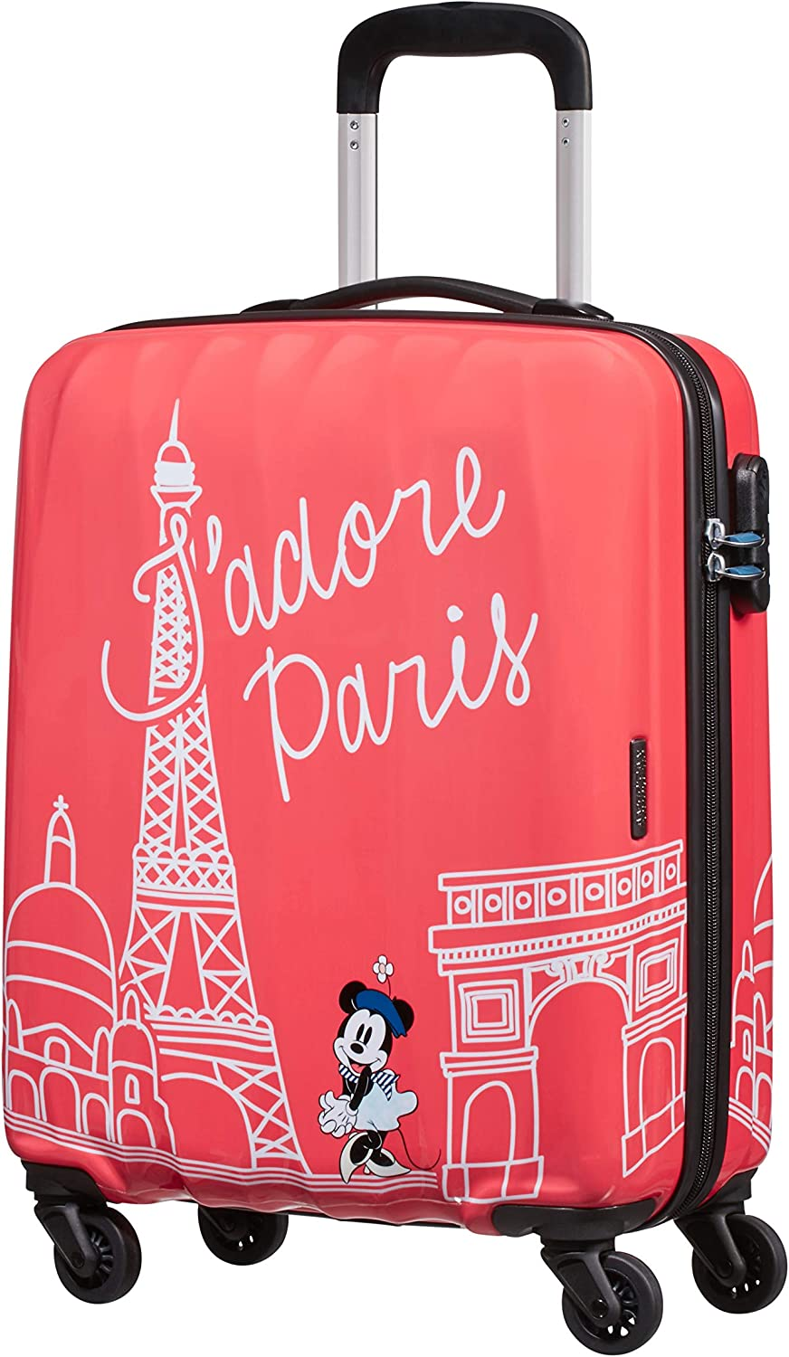 American Tourister Disney Legends Spinner S Equipaje de Mano Infantil, 55 cm, 36 L, Rosa (Take Me Away Minnie Paris)