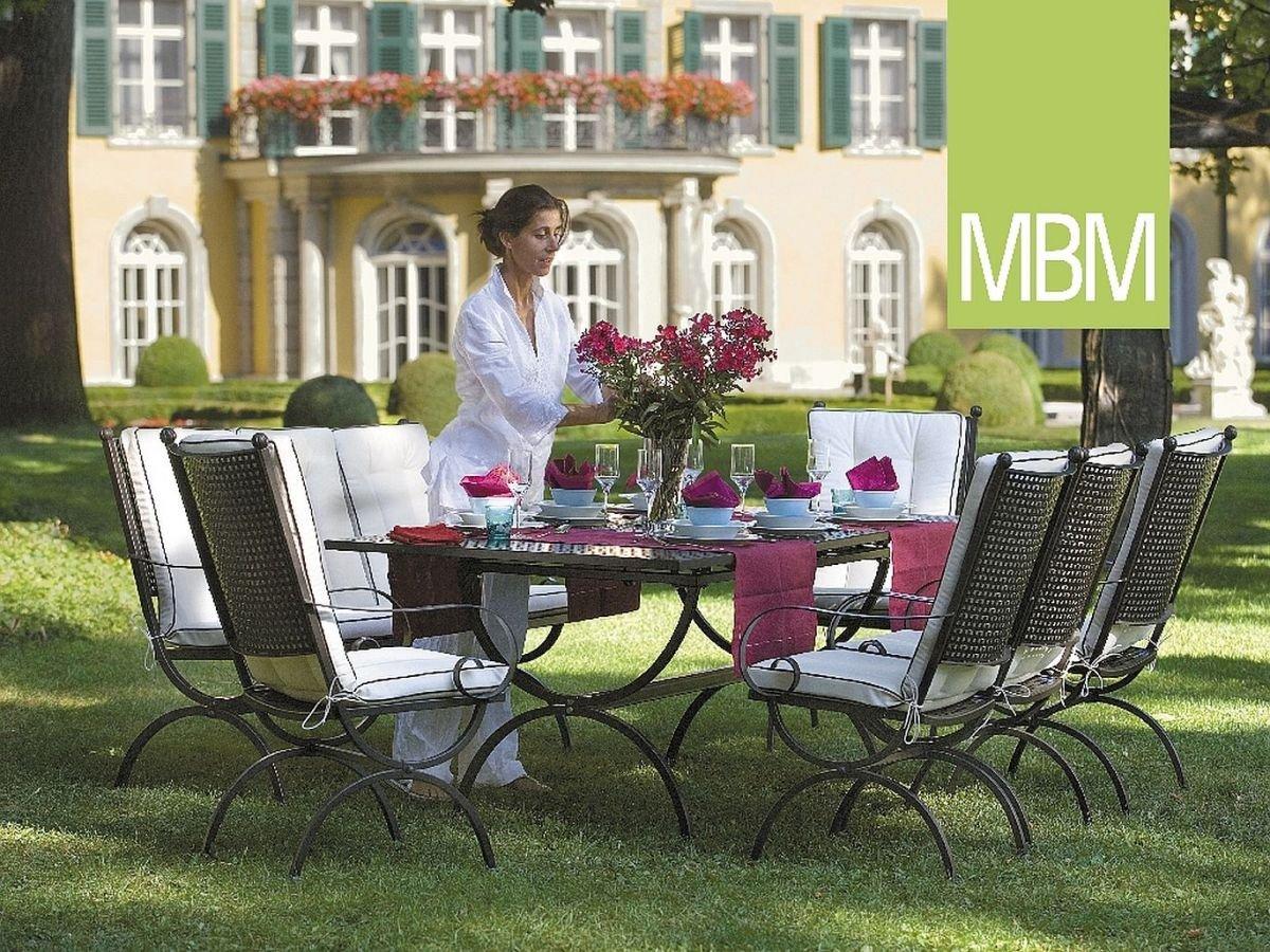 MBM Hochwertige Schmiedeeisen Sitzgruppe Romeo/Gartentisch/Esstisch/Terrassentisch/Outdoor