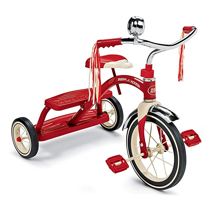 Best Tricycle for Toddlers: Radio Flyer Classic Red Dual Deck Tricycle