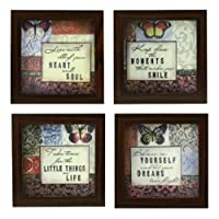 Indianara Quotes Set of Framed Wall Hanging Art Prints Paintings Without Glass