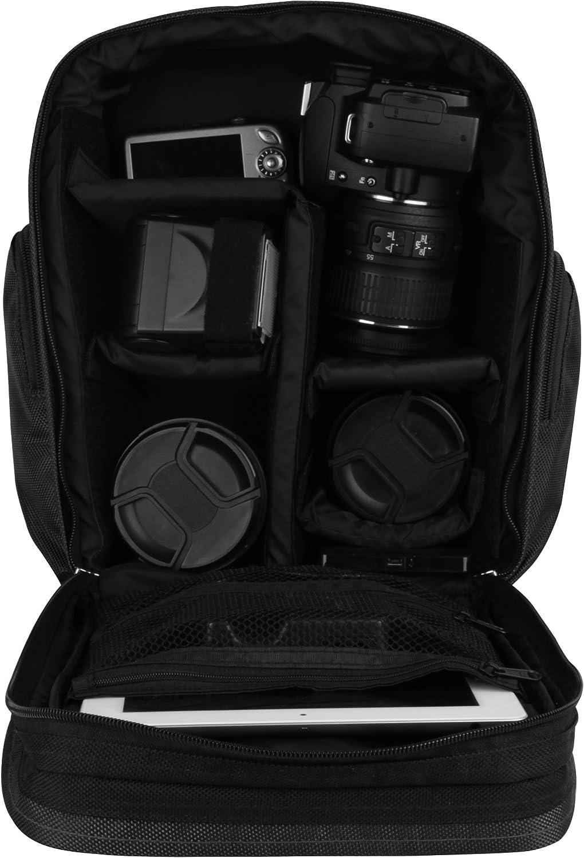 D3200 Black D5100 D3100 D60 Compact Digital SLR Cameras and Mini Tripod and Screen Protector D5200 D5300 D3300 D3000 VanGoddy Sparta Travel Backpack for Nikon D5500 D5000