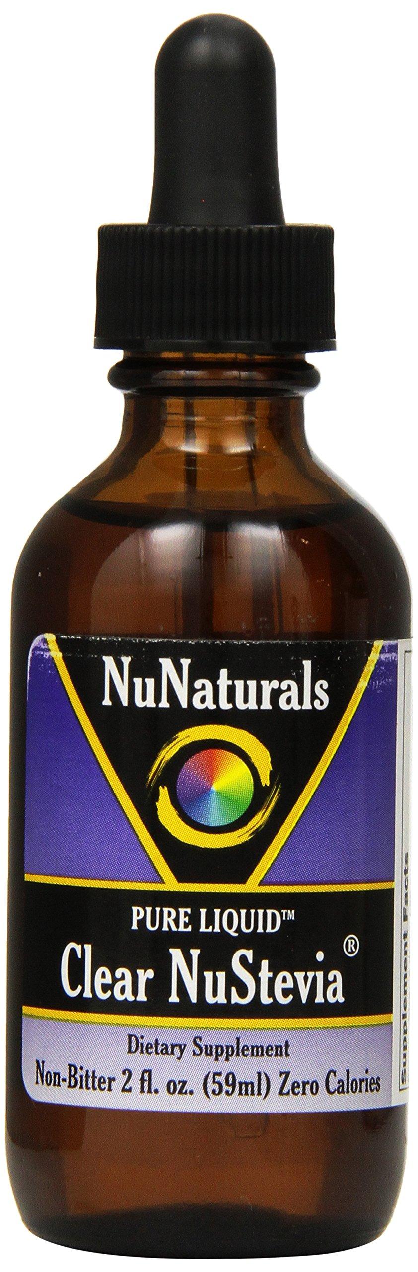 NuNaturals Nustevia Clear Stevia Glass Bottle Liquid, 2-ounce (Pack of 12)