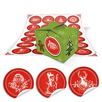 24 De Kleine claro verde Navidad Cajas de regalo cajas regalo (8 x 6,