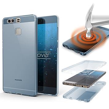 Urcover® Funda Huawei P9, Carcasa Protectora 360 Grados Silicona Gel en Transparente Full Body Protección Completa Delantera + Trasera, Huawei P9 - ...