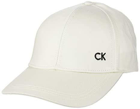 defc03a42 Calvin Klein Women's Ck Baseball Cap, White (Powder White 102), One Size