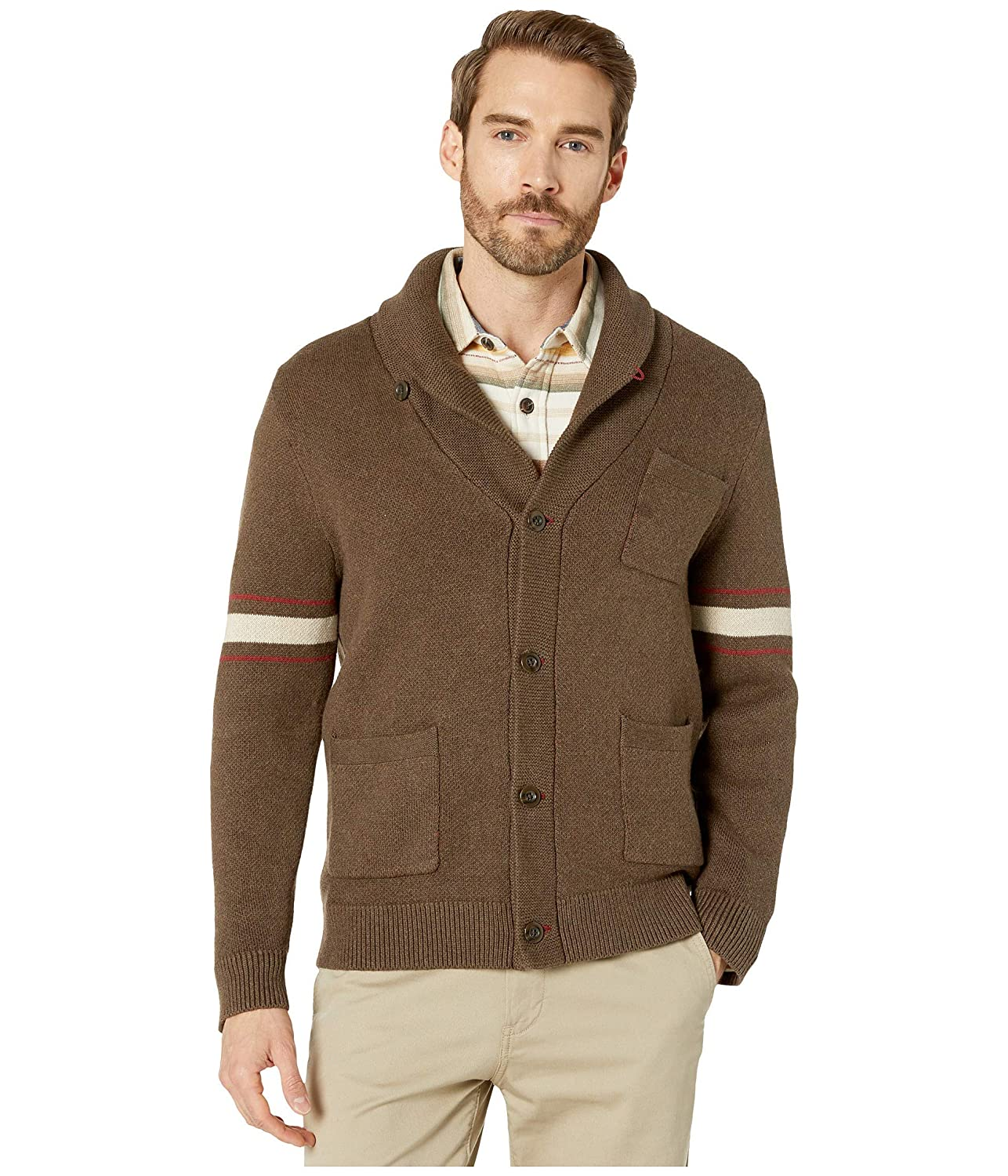 1950s Men's Clothing Pendleton Mens Archive Jacquard Cardigan Sweater $156.73 AT vintagedancer.com
