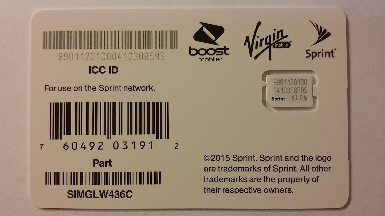Sprint UICC ICC Nano SIM Card SIMGLW436C - iPhone 5c, 5s, 6, 6 Plus, 6S, 6S Plus, 7, 7 Plus, SE, iPad Air, iPad Air 2 81Mtsv7YoLL