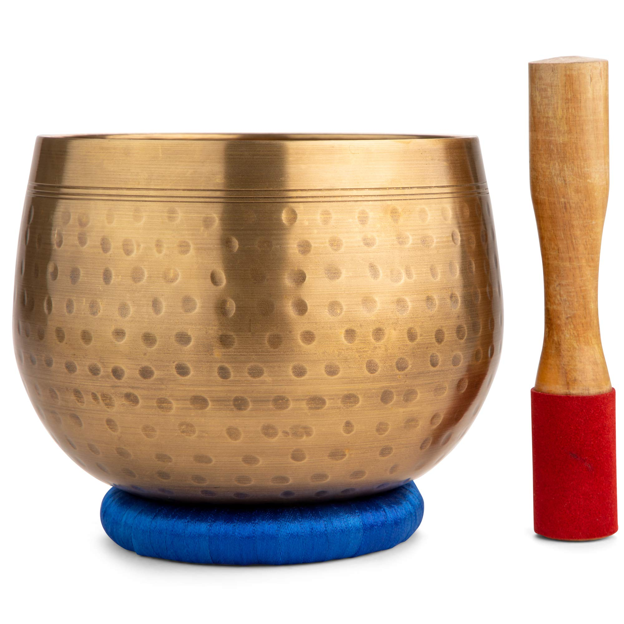 Meditative Brass Singing Bowl with Mallet and Cushion  -Tibetan Sound Bowls for Energy Healing, Mindfulness, Grounding, Zen, Meditation  -  Exquisite, Unique Home Decor and Gift Sets by Telsha (Image #2)