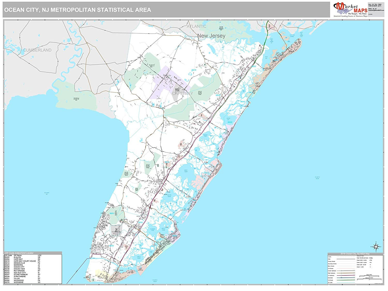 Amazon Com Marketmaps Ocean City Nj Metro Area Wall Map 2018