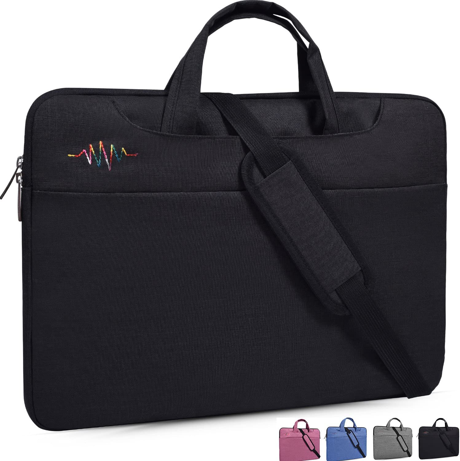 13-13.3 Inch Laptop Sleeve Case Shoulder Bag Fit MacBook Pro,MacBook Air,ASUS ZenBook,Lenovo Yoga 720,Samsung Chromebook Plus/Pro,Acer Chromebook R 13,Dell HP Spectre x360 13.3 inch Notebook bag,Black