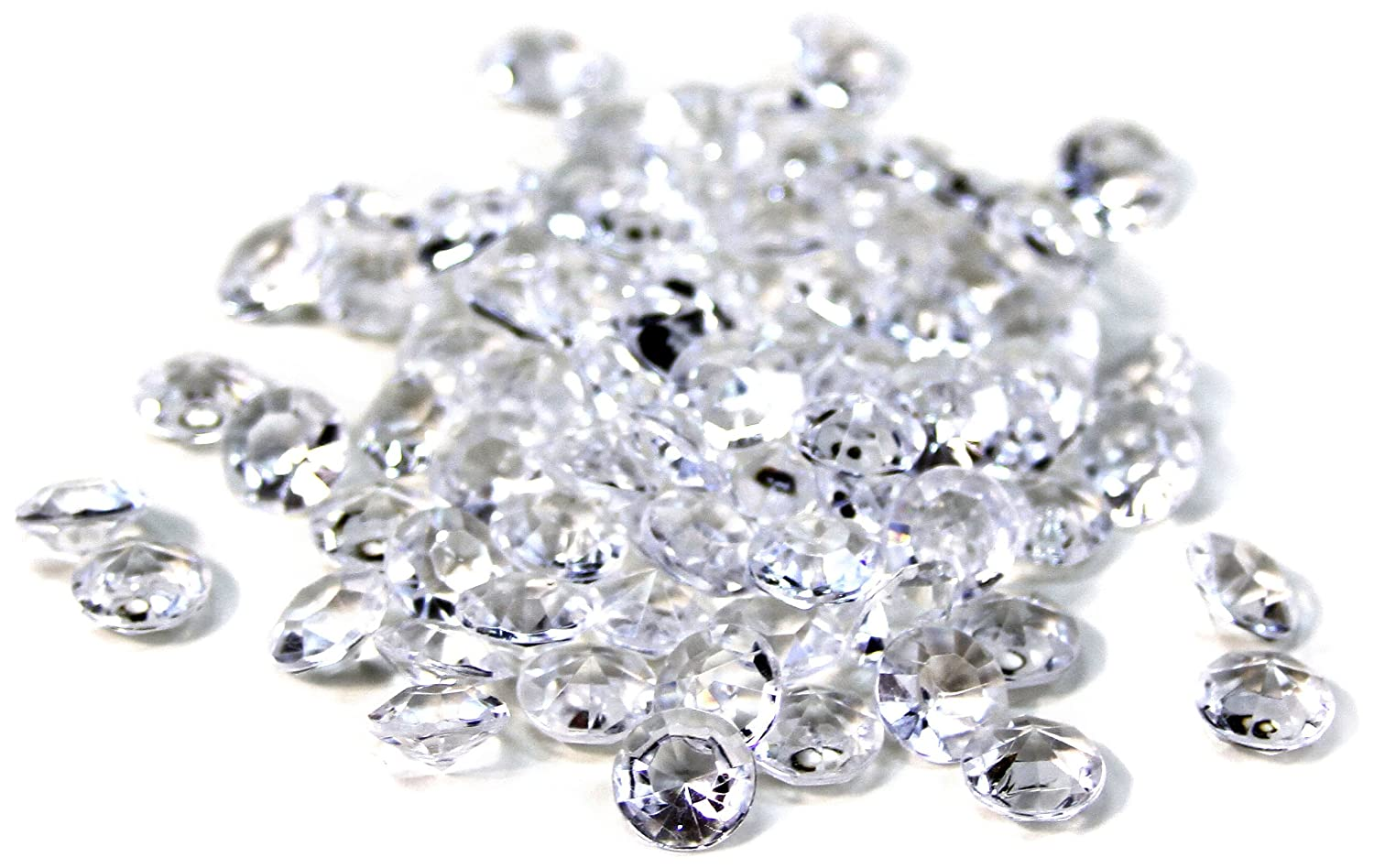 Koyal Wholesale Diamond 800-Pack Confetti Table Decor, 10mm, Clear