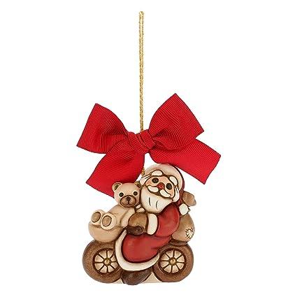 Thun Babbo Natale Grande In Bici Da Appendere Addobbo Natalizio