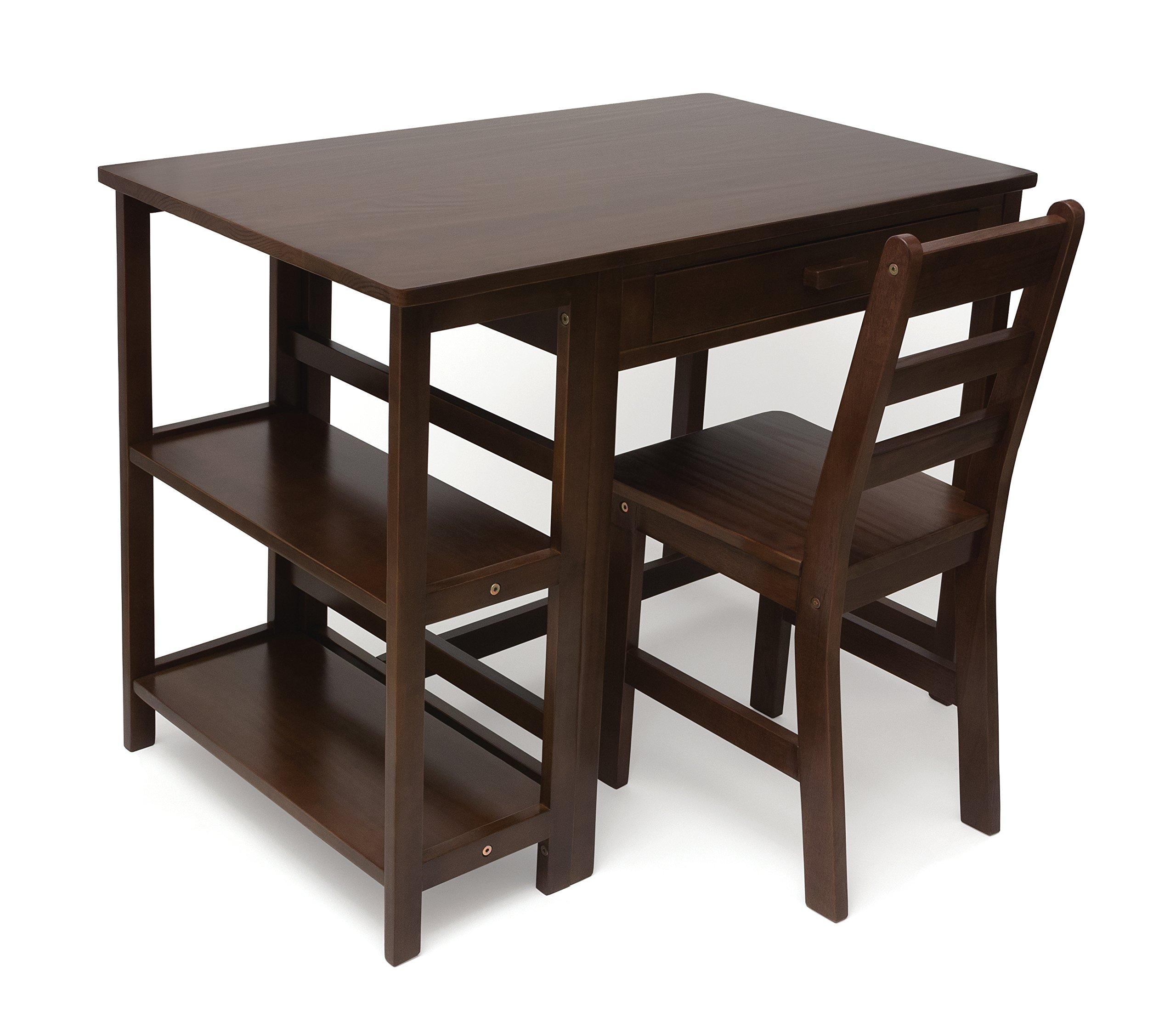 Lipper International 584WN Child's Work Station Desk and Chair, Walnut Finish by Lipper International