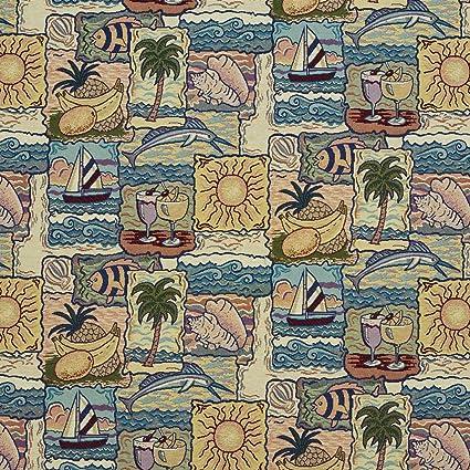 Amazon Com Tropical Palm Tree Cocktails Sunshine Beach Fish Marlin