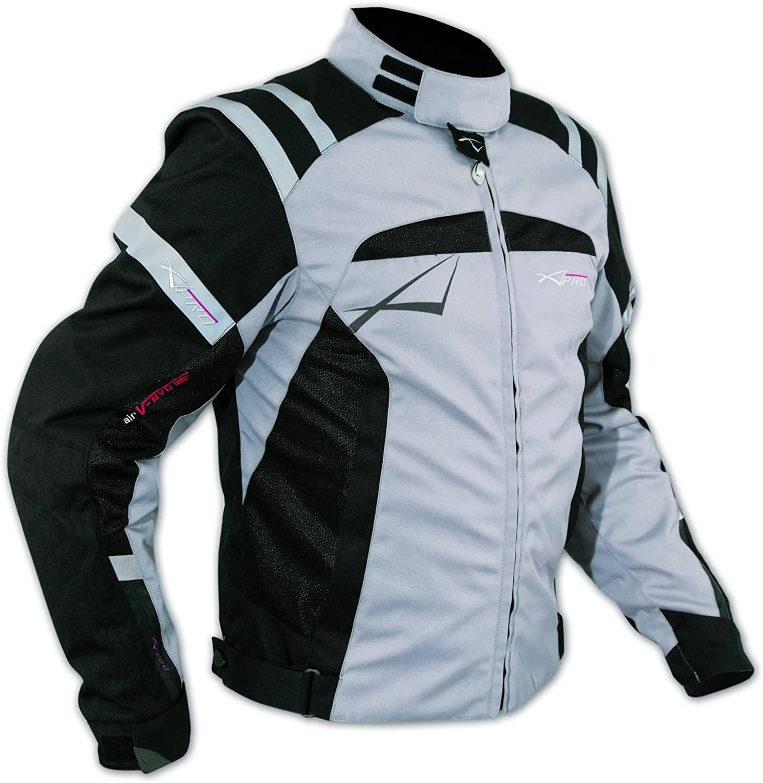Blouson Textile Motard Sport Protections Doublure Hiver Moto Touring gris XXL