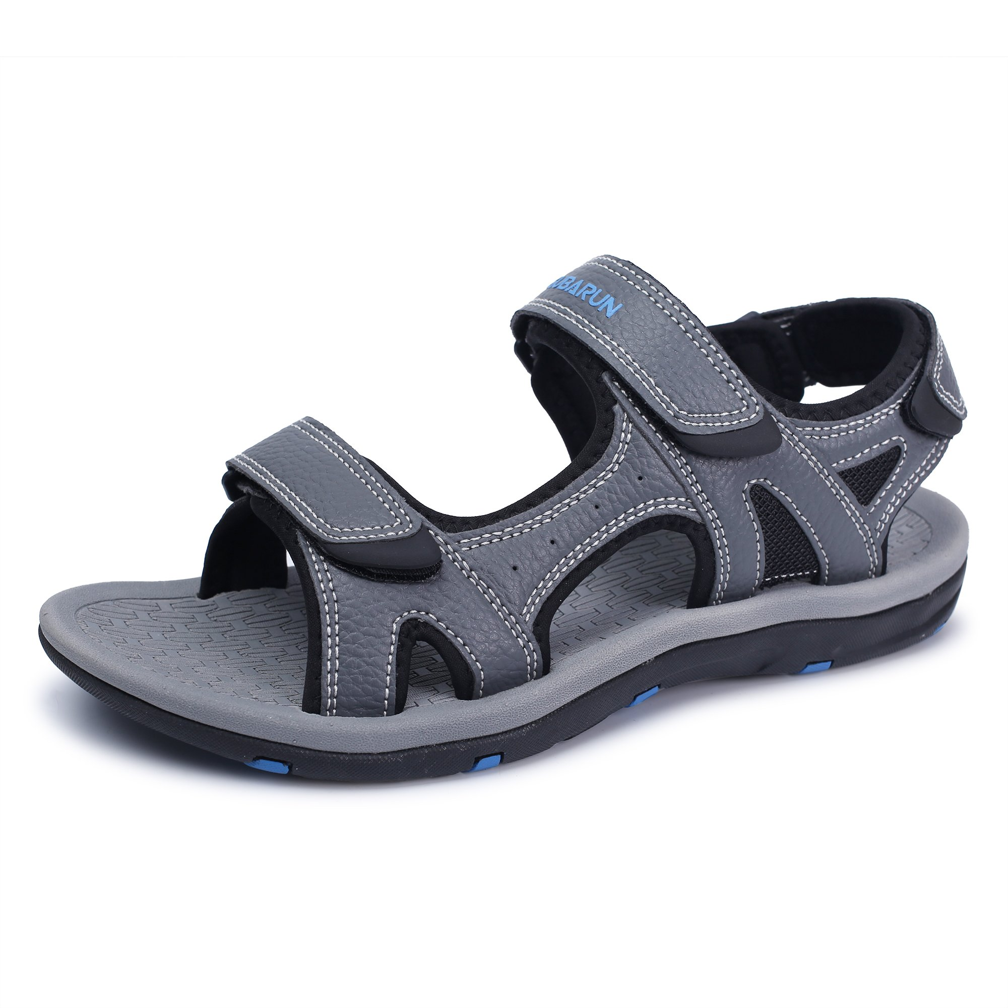 GUBARUN AthleticSandalsforMenOpen-ToeSandalsStrapSummerShoes(Gray 6.5)