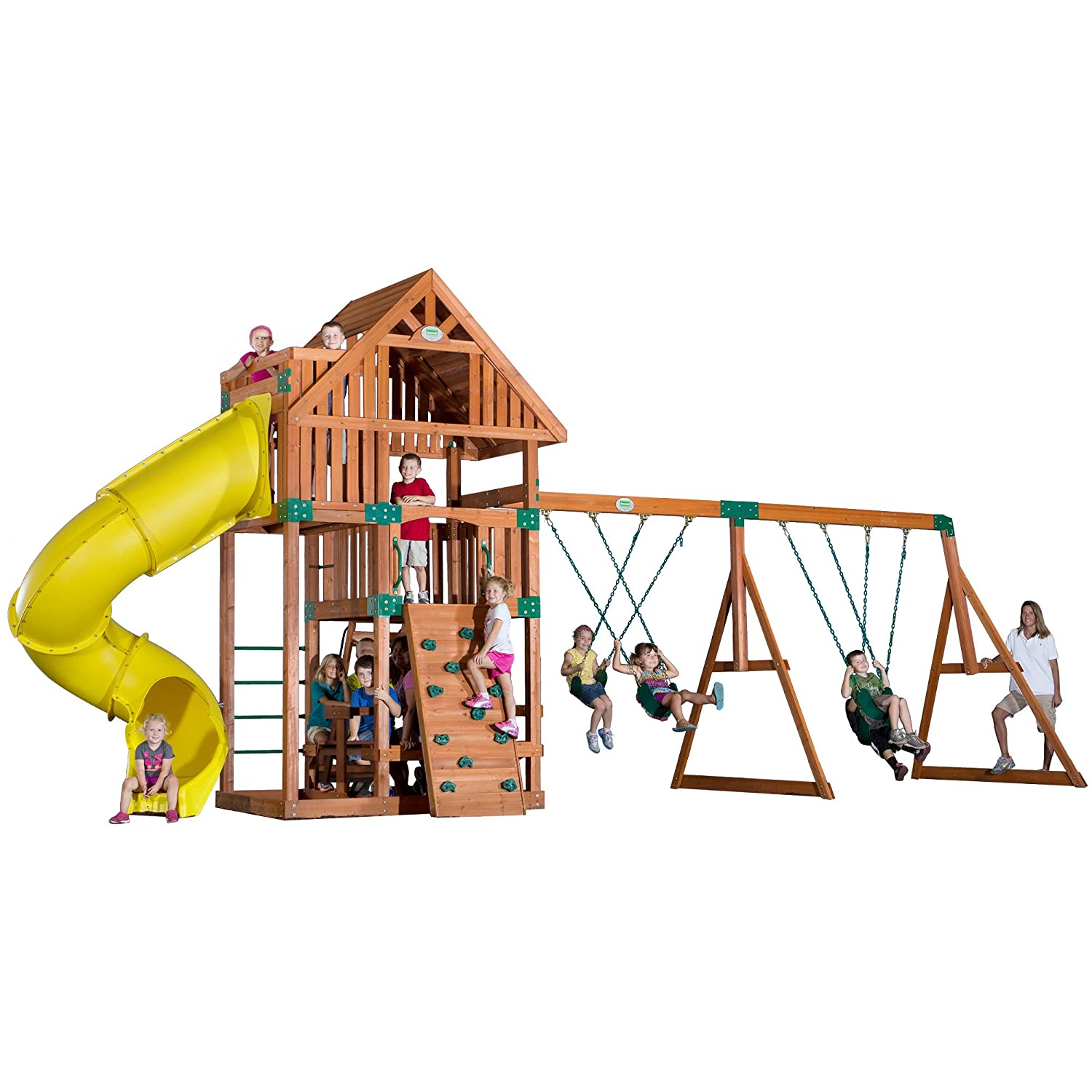 amazon com backyard discovery excursion all cedar wood playset