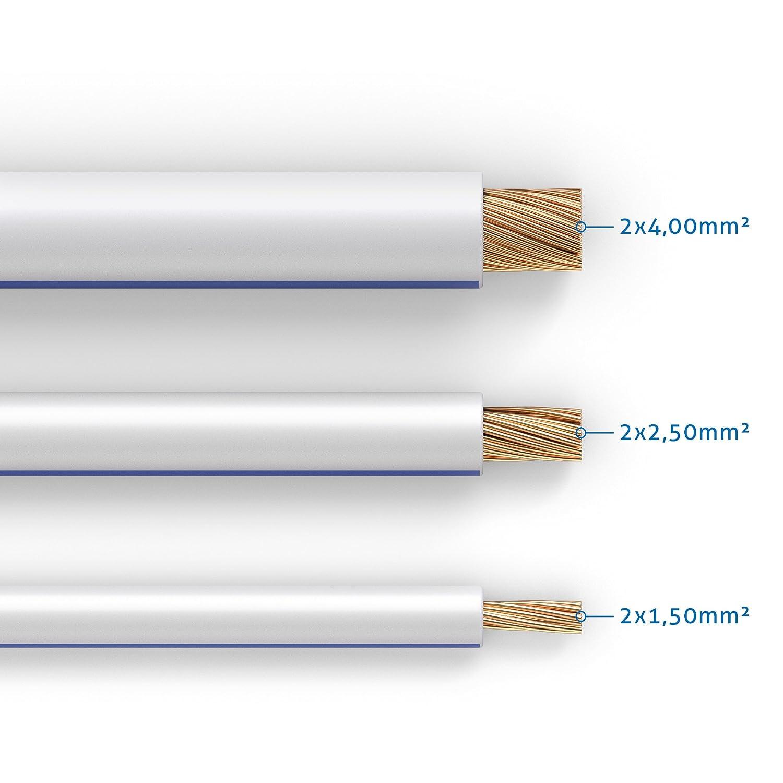 Audio System Z-SC 2,5mm² OFC Kupfer Lautsprecherkabel 2x 2,5qmm Kabel Meterware