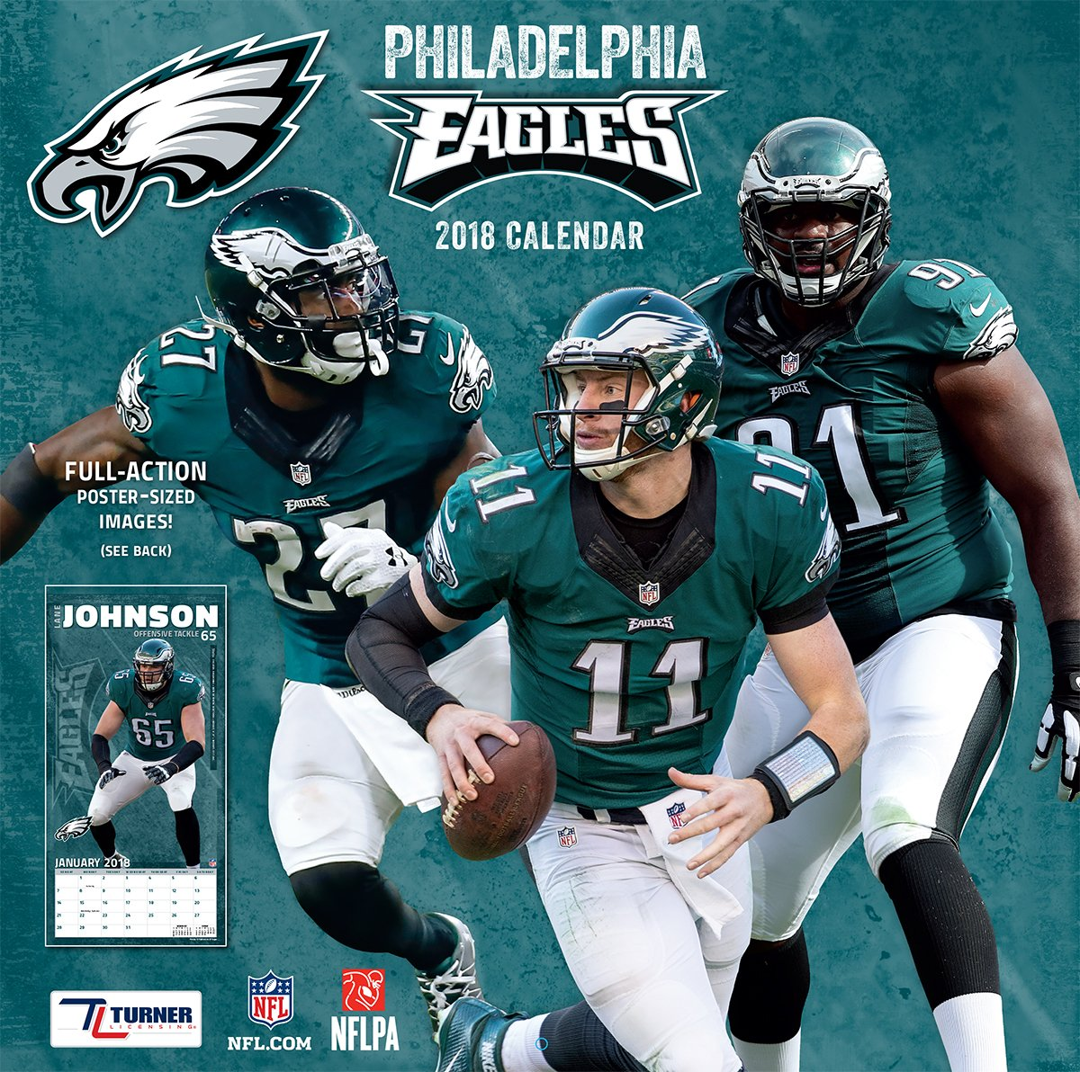 sneakers for cheap 2b27f 7e79a NFL Philadelphia Eagles 2018 Wall Calendar: Turner Licensing ...