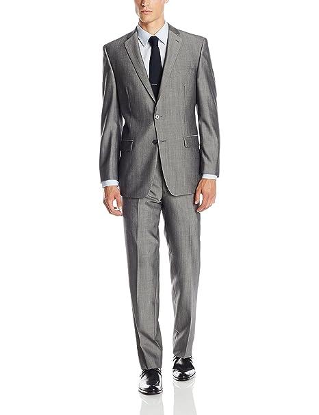 Amazon.com: Calvin Klein de los hombres Malik Gris Traje ...