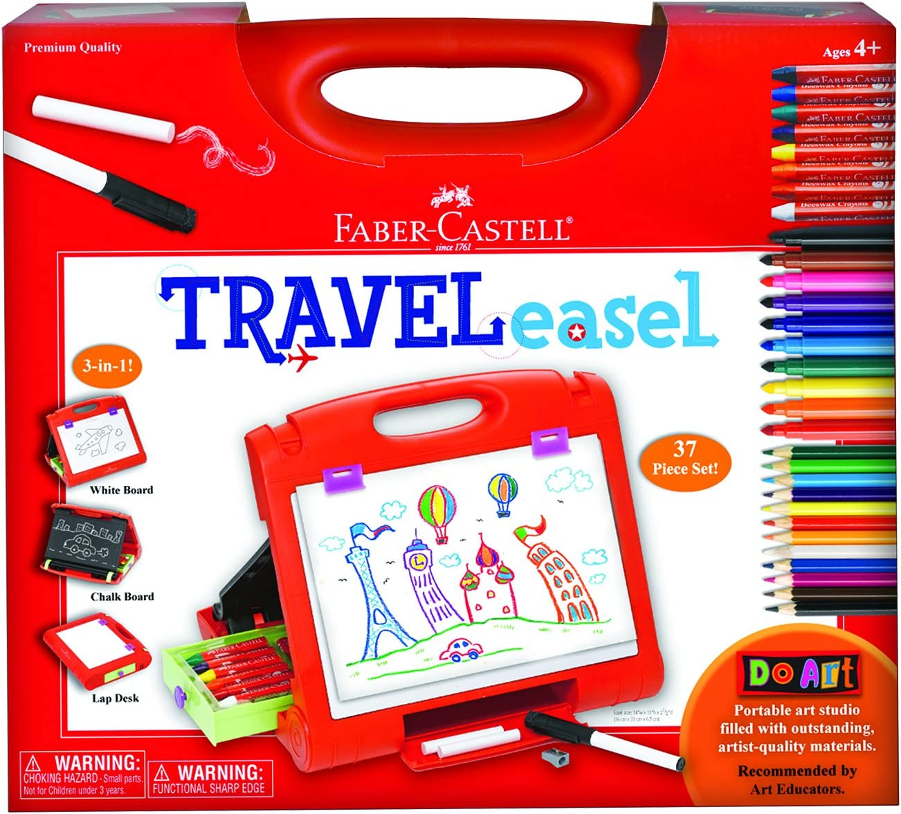 Faber-Castell Do Art Travel Easel - Portable Art Kit for Kids