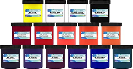 Waterbased Screen printing ink t-shirt /& fabric printing black white diy crafts