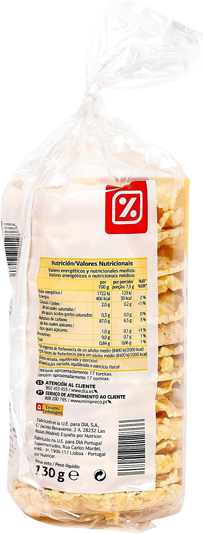 DIA - Tortitas De Maiz Paquete 130 Gr: Amazon.es: Alimentación y bebidas