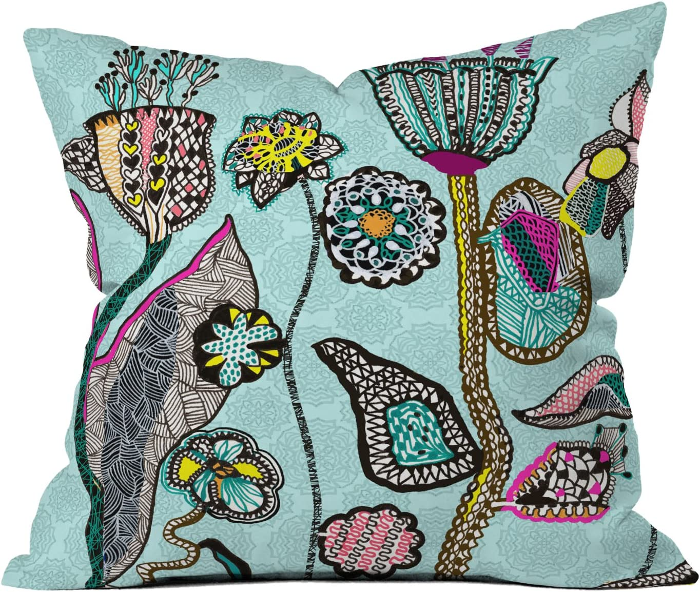 Deny Designs Mikaela Rydin The Garden within Throw Pillow, 26 by 26-Inch