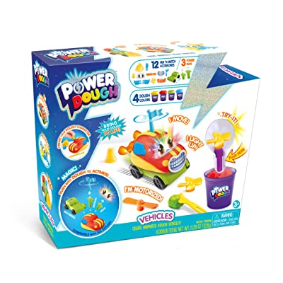 Canal Toys USA Ltd Power Dough Vehicles Large Box Interactive Dough (20 Piece): Toys & Games