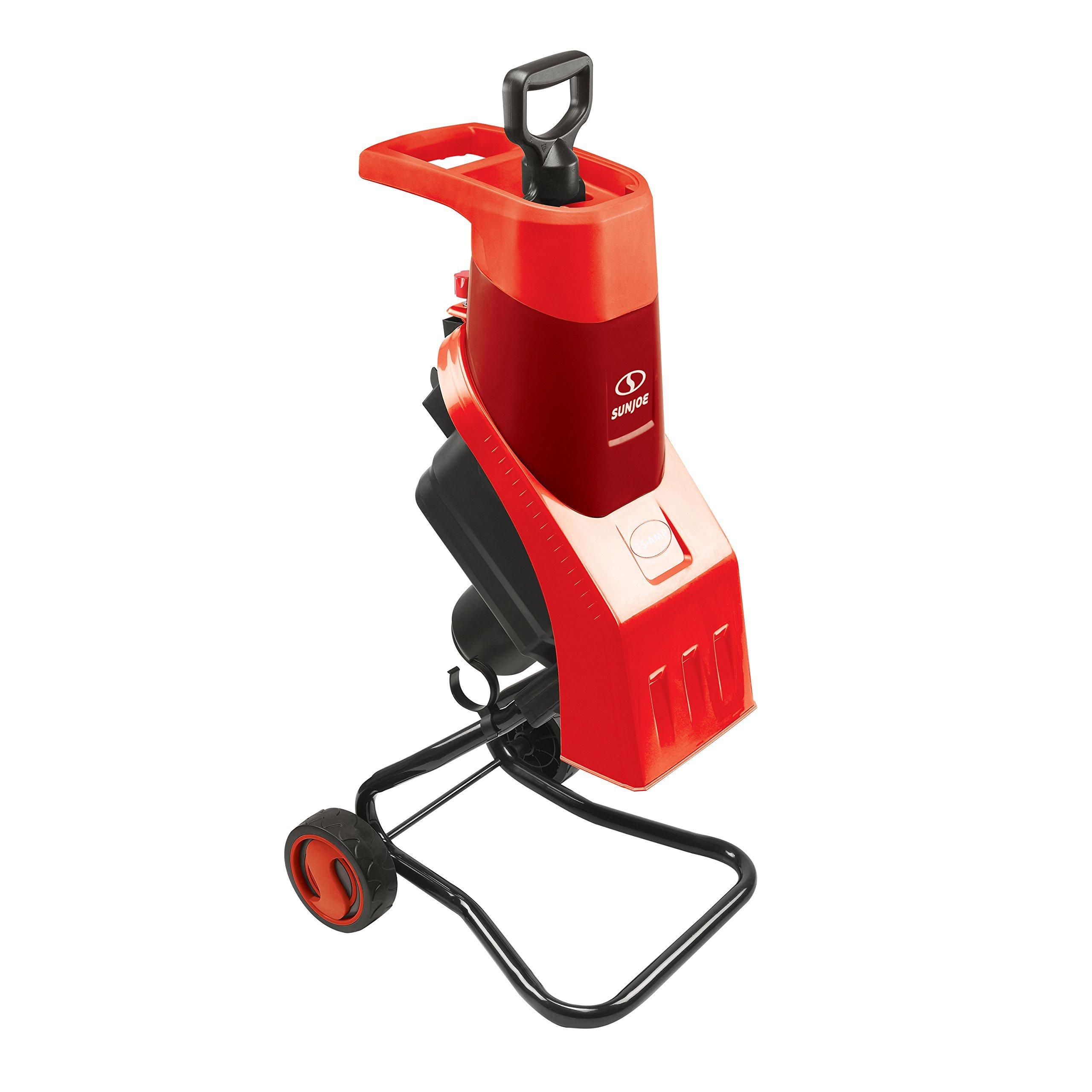 Sun Joe CJ602E-RED 15 Amp Electric Wood Chipper/Shredder, Red (Renewed)