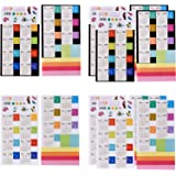 Mtlee 12 Sheets 2018 Calendars Stickers Self Adhesive Tabs Index Tabs Reminder Stickers Flags for Planner Agenda Notebook Diary 15-Month from December 2017 to February 2019