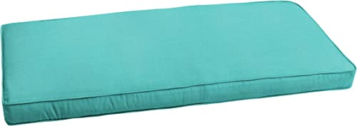 Mozaic AZCS2562 Indoor or Outdoor Sunbrella Bench Cushion with Corded Edges and Tie Backs, 60 inches, Canvas Aruba