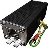 Ethernet Surge Protector PoE+ Gigabit - Gas Discharge Tube for Full Protection - Mounting Flange - RJ45 Lightning Suppressor