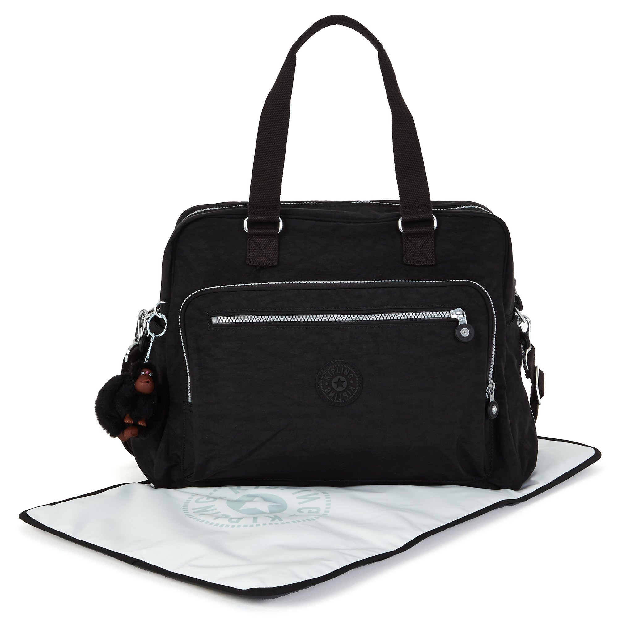 Kipling Alanna Baby Bag with multiple compartments, Black