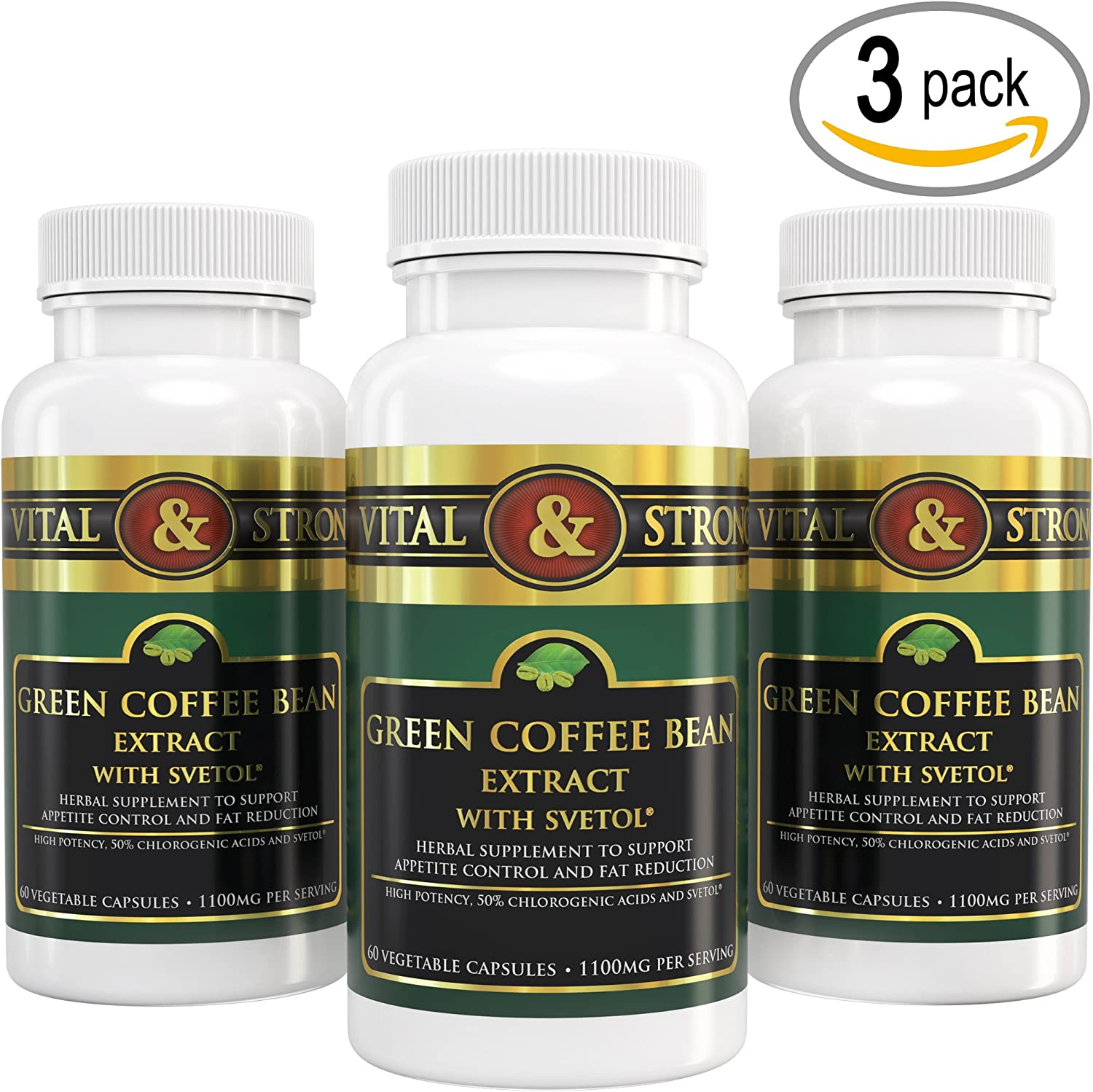 Vital Strong Green Coffee Bean Extract with Svetol 180 Count