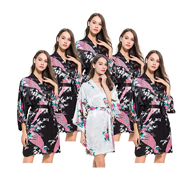 Fete Fabulous Set of 7 Hen Party Getting Ready Robes 077758565