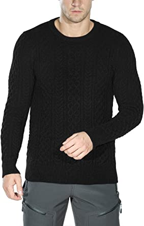 Lutratocro Men Casual Crewneck Knitted Embroidery Pullover Jumper Sweaters