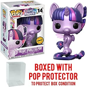 My Little Pony Movie Twilight Sparkle Sea Pony Pop! Vinyl Figure Chase Variant and (Bundled with Pop BOX PROTECTOR CASE)