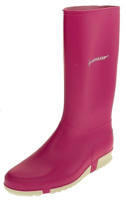 Femme Dunlop Bottes De Pluie En Caoutchouc De Couleur Rose Bottes De Pluie Eu 41 Ysngx5B