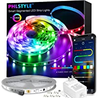 LED Strip Lights 32.8FT, Bluetooth Wireless Smart Phone APP Controlled 5050 ICRGB LED Light Strips Music Sync with…