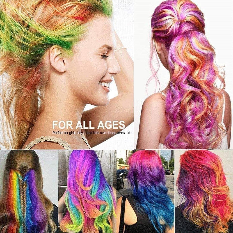 Tiza para el cabello, coloreada 6 tipos de tinte para el ...