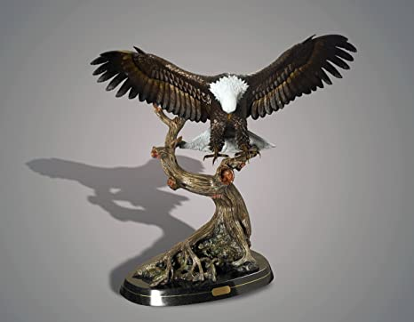 Amazon Life Size Magnificent Eagle Bronze Wings Of Fury