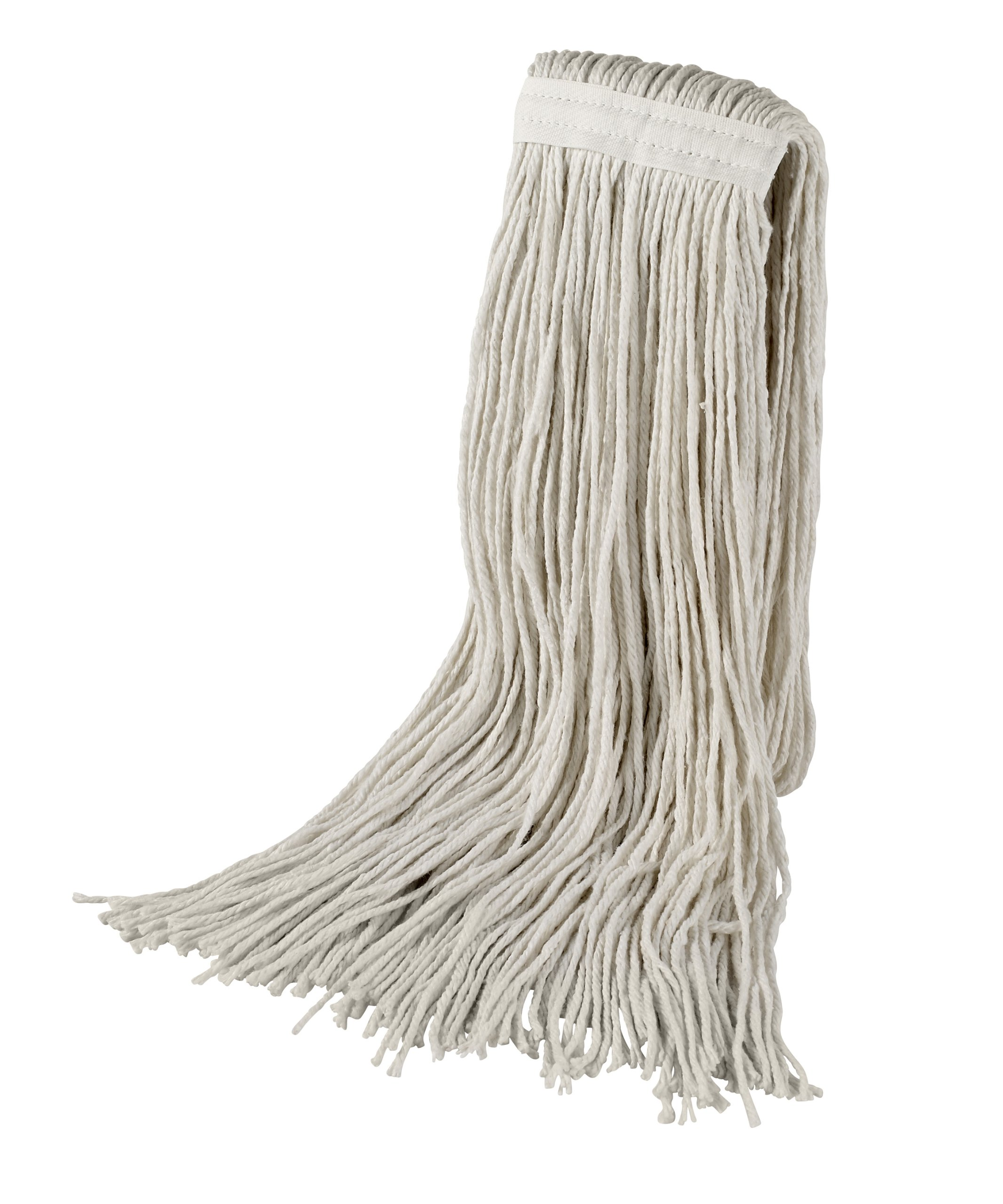 Bristles Wet Cut End Mop Head Replacement, Pack of 12 (32#, White)
